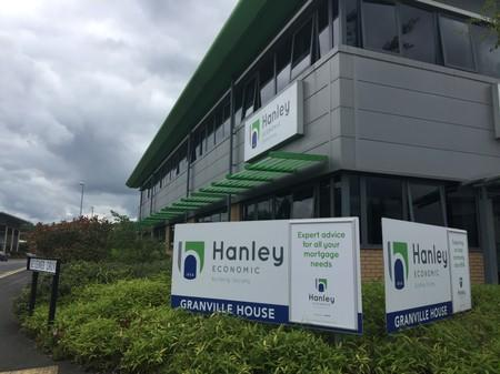 A general view of the Hanley Economic Building Society headquarters in Stoke-on-Trent