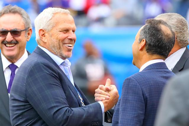 New York Giants co-owner Steve Tisch took jabs at the NFL and his own team on Tuesday. (Rich Graessle/Icon Sportswire via Getty Images)