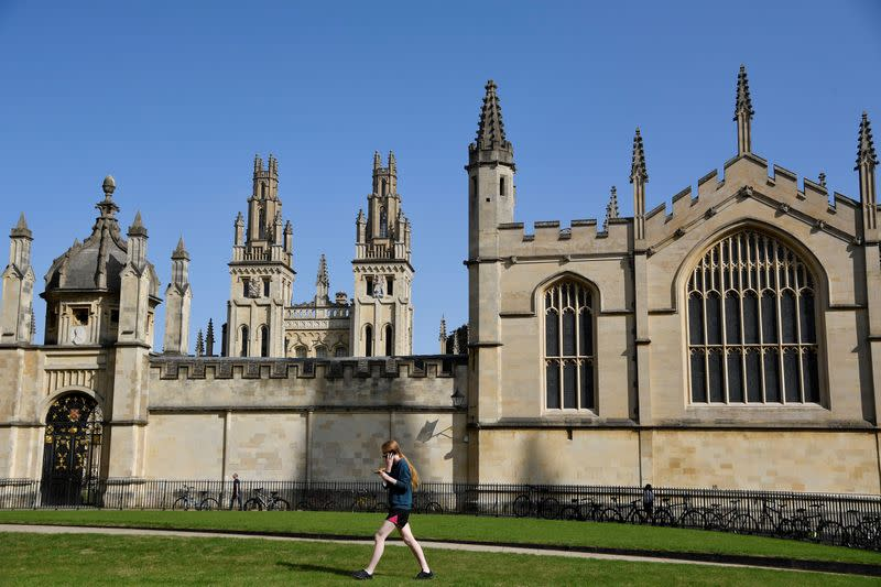 FILE PHOTO: Students, residents and tourists go about their daily life amidst COVID-19 pandemic, in Oxford