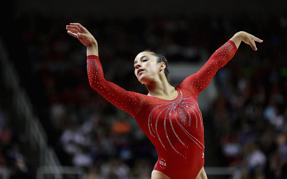 <p>Raisman returned to the gym in 2014 and competed in the U.S. Olympic Trials, despite many challenges she faced along the way. (Getty) </p>