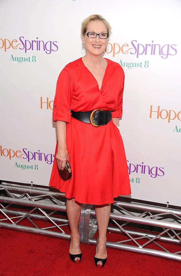 "Meryl Streep at the New York premiere of ""Hope Springs"" on August"
