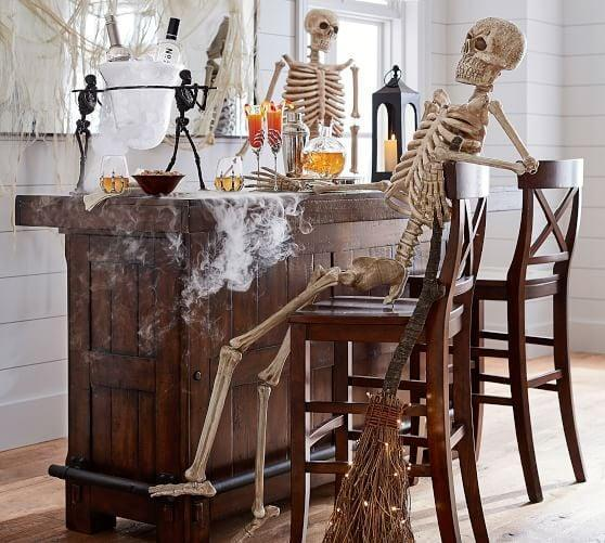 <p>Let the <span>Outdoor Mr. Bones </span> ($99) skeleton take care of visitors with his scary appeal.</p>