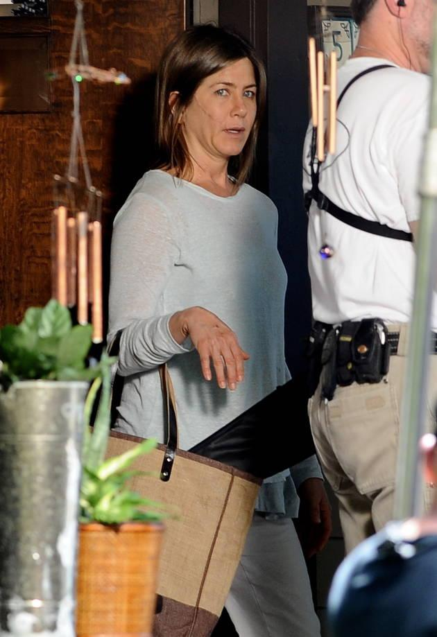Jen gave fans a shock when she was snapped looking dowdy and downtrodden in Hollywood, but thankfully, the make-under is for her new movie, Cake