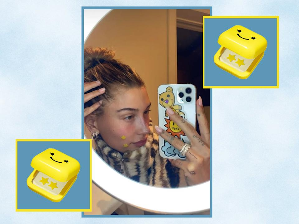 <p>Since launching in 2019, the vegan and skincare brand has been bringing fun to acne treatments with usual spot patches</p> (iStock/The Independent/ Instagram @haileybieber )