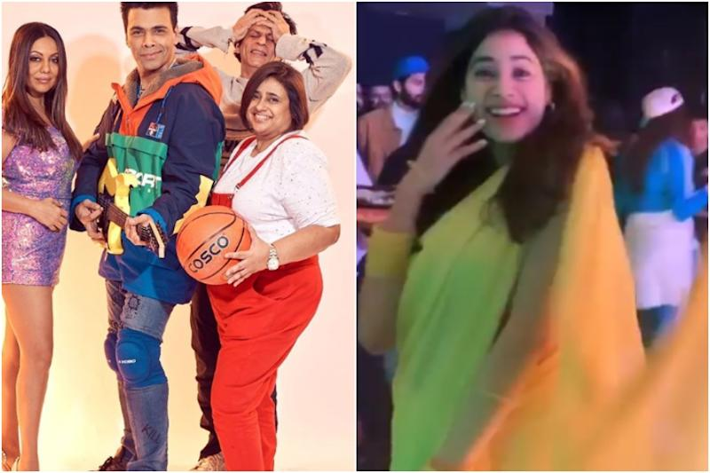Janhvi Kapoor, Karan Johar, Gauri Khan Recreate Iconic Bollywood Looks