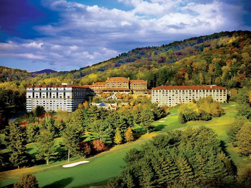 """<p>Renowned for its award-winning spa, <a href=""""https://www.omnihotels.com/hotels/asheville-grove-park"""" rel=""""nofollow noopener"""" target=""""_blank"""" data-ylk=""""slk:The Omni Grove Park Inn"""" class=""""link rapid-noclick-resp"""">The Omni Grove Park Inn</a> is the perfect place to retreat and rejuvenate after a stressful year. Seated in the foothills of the Blue Ridge Mountains, this beautiful property offers all the tranquility one dreams of on a mountain getaway while still being close to the arts and nightlife in Asheville.</p><p>If you need a break from the famed 43.000 square-foot subterranean spa, there's a Donald Ross-designed golf course with sweeping mountain views, outdoor and indoor tennis courts, two retail promenades, a sunset trail, guided history tours, and much more. The hotel is also known for its locally driven menus at its 10 restaurants and bars, which also feature unique culinary events, like foraging experiences, and one-on-one workshops with Master Distillers in the area.</p>"""