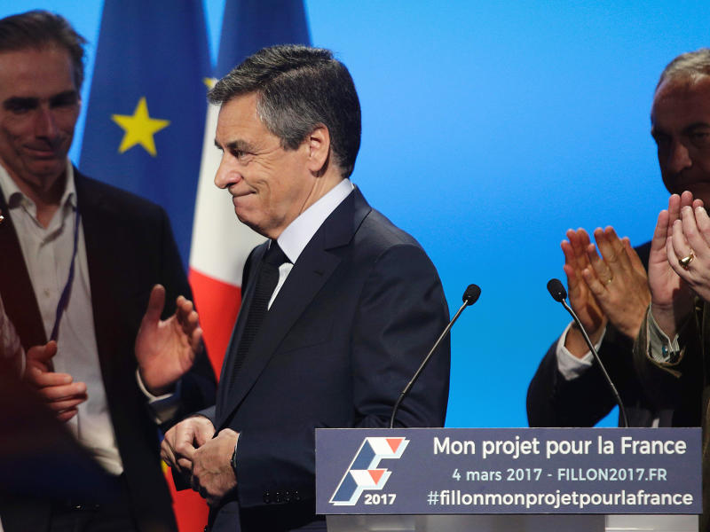 François Fillon has refused to step down from the French presidential race: Getty Images