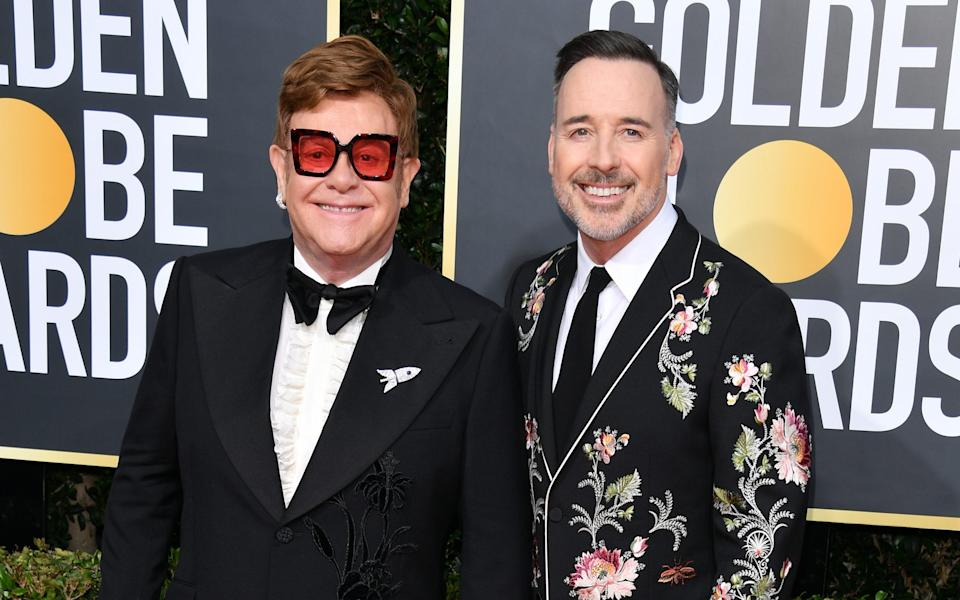 Elton John and husband David Furnish  - Getty Images