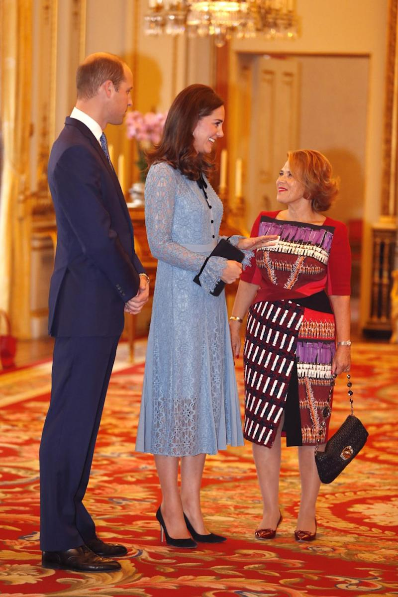People commented online claiming the Duchess 'doesn't even look pregnant'. Photo: Getty Images