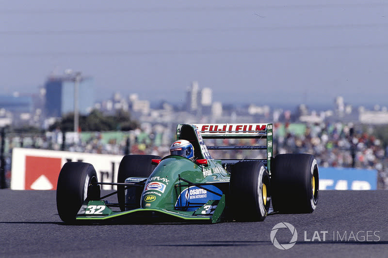 """Zanardi made a good impression in his early F1 drives with Jordan late in 1991. <span class=""""copyright"""">Motorsport Images</span>"""