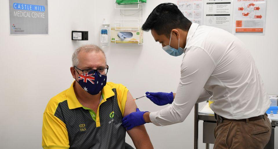 Scott Morrison receives covid-19 vaccine
