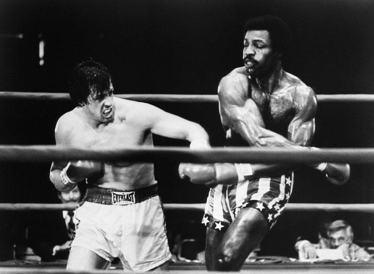 Sylvester Stallone and Carl Weathers in 'Rocky' (Photo: Everett Collection)