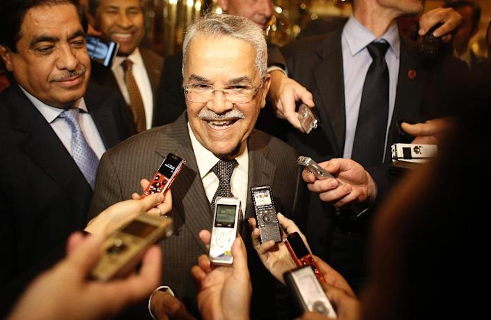 OPEC's strategy of not cutting production in order to maintain market share is working, Saudi Arabia's oil minister Ali al-Naimi said as he arrived for a meeting of the cartel to decide on output levels (AFP Photo/Dieter Nagl)