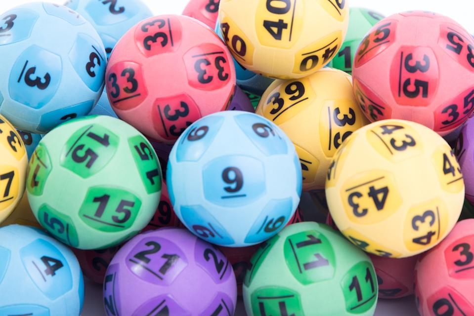 Pictured are generic lottery balls the  supplementary numbers for draw number 4049 were 44 and 41 and the winning numbers were 42, 16, 36, 8, 9 and 10
