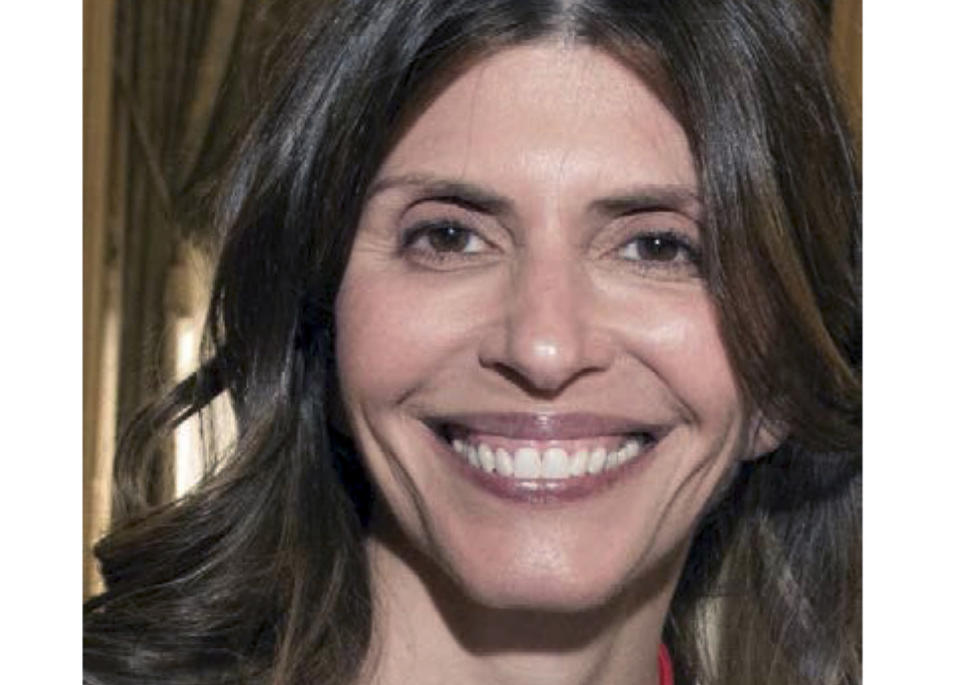 FILE - This undated file photo provided by the New Canaan, Conn., Police Department shows Jennifer Dulos. The former home of Dulos, the Connecticut mother of five who went missing in May 2019 after prosecutors say she was killed by her estranged husband, is going on the market for $1.75 million. The Hartford Courant reports the 10,000-square-foot house in Farmington, Conn., is being listed as part of the sell-off of the estate of Fotis Dulos. (New Canaan Police Department via AP, File)