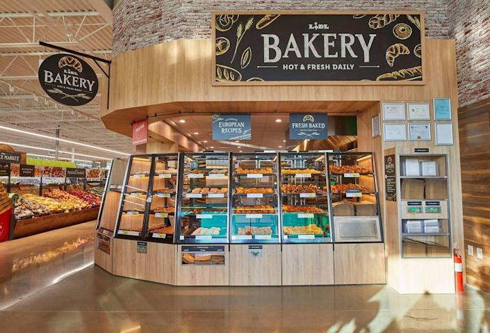 Lidl stores offer an in-house bakery.