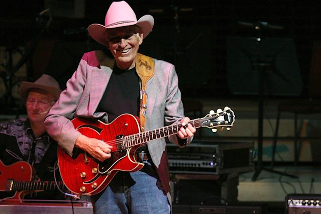 "<p>Tommy Allsup was a rockabilly and swing musician. He worked with Buddy Holly, and lost the now famous coin toss that resulted in him not being in a plane crash that killed Holly and three others in 1959, known as ""the day the music died."" Allsup passed away on Jan. 11 following complications from hernia surgery. He was 85.<br> (Photo: David Munn/WireImage) </p>"