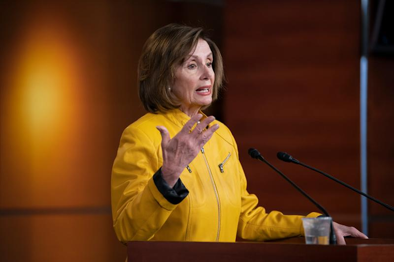 House Speaker Nancy Pelosi discusses President Donald Trump saying he'd accept assistance from a foreign power on June 13, 2019 in Washington, D.C.