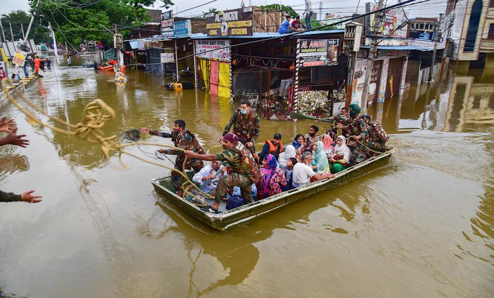 Rescue operation being carried out in Hyderabad after incessant rainfall
