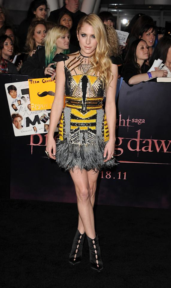 """<a href=""""http://movies.yahoo.com/movie/contributor/1810197650"""">Casey LaBow</a> at the Los Angeles premiere of <a href=""""http://movies.yahoo.com/movie/1810158314/info"""">The Twilight Saga: Breaking Dawn - Part 1</a> on November 14, 2011."""