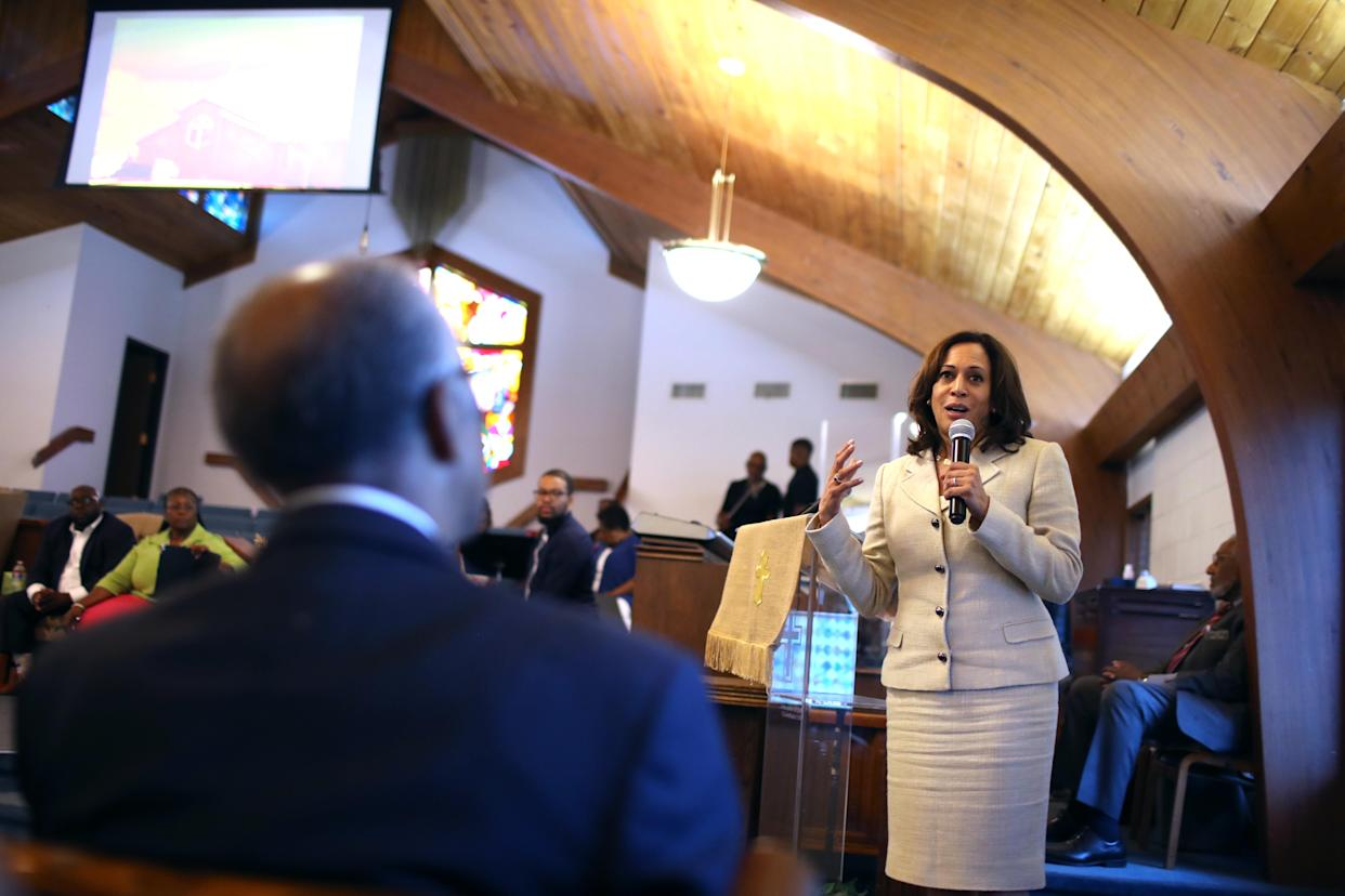 Kamala Harris at church: 'This is where we go when the times