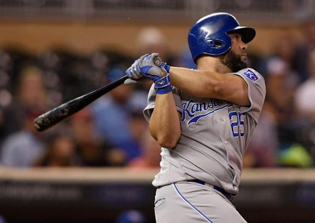 "<a class=""link rapid-noclick-resp"" href=""/mlb/players/7481/"" data-ylk=""slk:Kendrys Morales"">Kendrys Morales</a> will replace Edwin Encarnacion in Toronto. (Getty Images/Hannah Foslien)"
