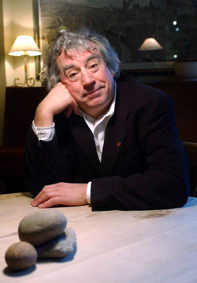 Former Monty Python star, writer and film director Terry Jones at his south London home.