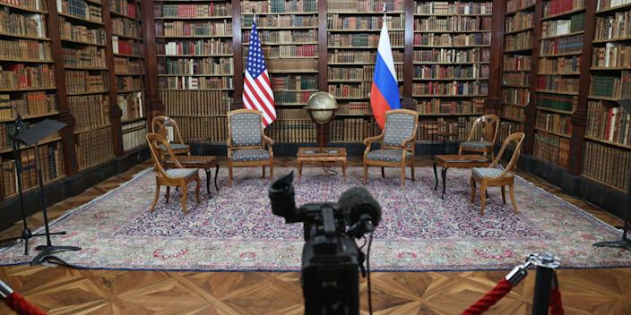 The empty room meant for the Biden-Putin summit