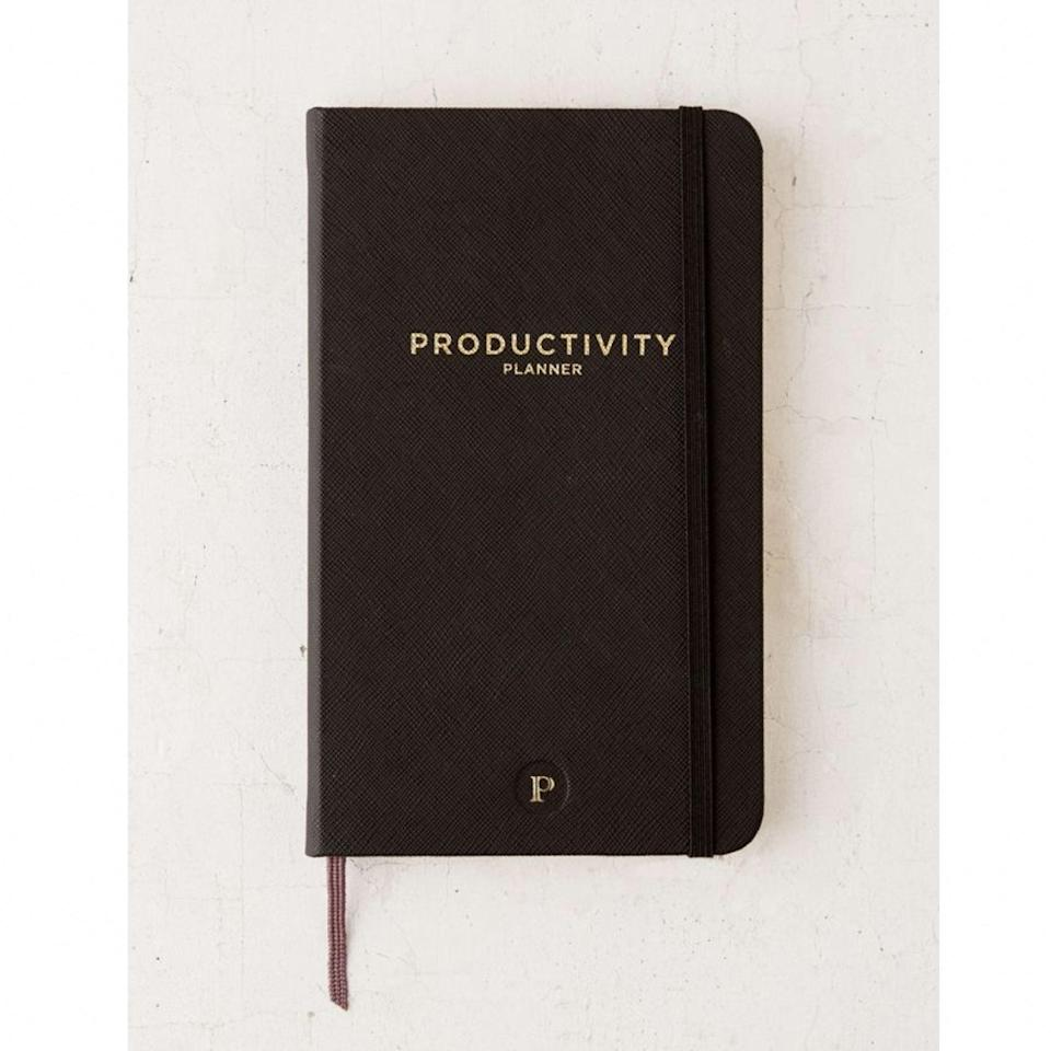 "The name says it all, and this planner is based on historical leading Productivity Principles and Supported Goals Research that are proven to increase productivity. Keep distractions at bay with this design which allows you to rate productivity at the end of each day, focusing on improving efficiency over time. $26, Urban Outfitters. <a href=""https://www.urbanoutfitters.com/shop/productivity-planner?"" rel=""nofollow noopener"" target=""_blank"" data-ylk=""slk:Get it now!"" class=""link rapid-noclick-resp"">Get it now!</a>"