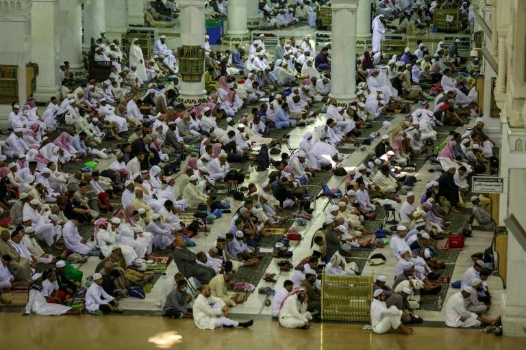 Friday prayers went ahead, but numbers were down