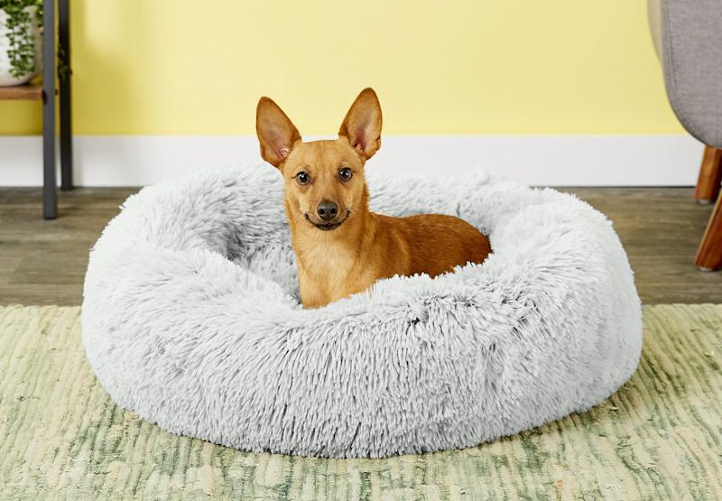 If your furry friend is on the small side, this plush bed will be their favorite during the cooler months. (Photo: Chewy)