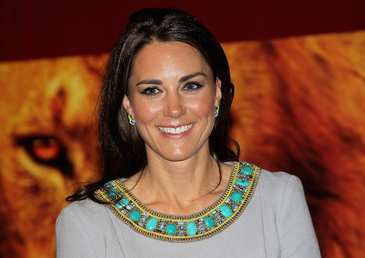 LONDON, ENGLAND - APRIL 25:  Catherine, Duchess of Cambridge attends the UK Premiere of 'African Cats' in aid of Tusk at BFI Southbank on April 25, 2012 in London, England.  (Photo by Chris Jackson - WPA Pool /Getty Images)