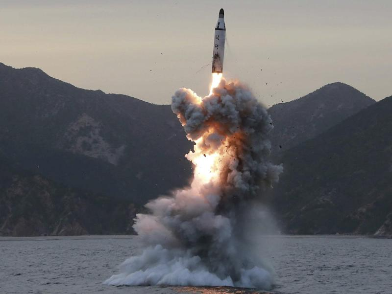 Four ballistic missiles were launched over 600 miles, with three of them landing in waters which Japan claims as its exclusive economic zone: EPA