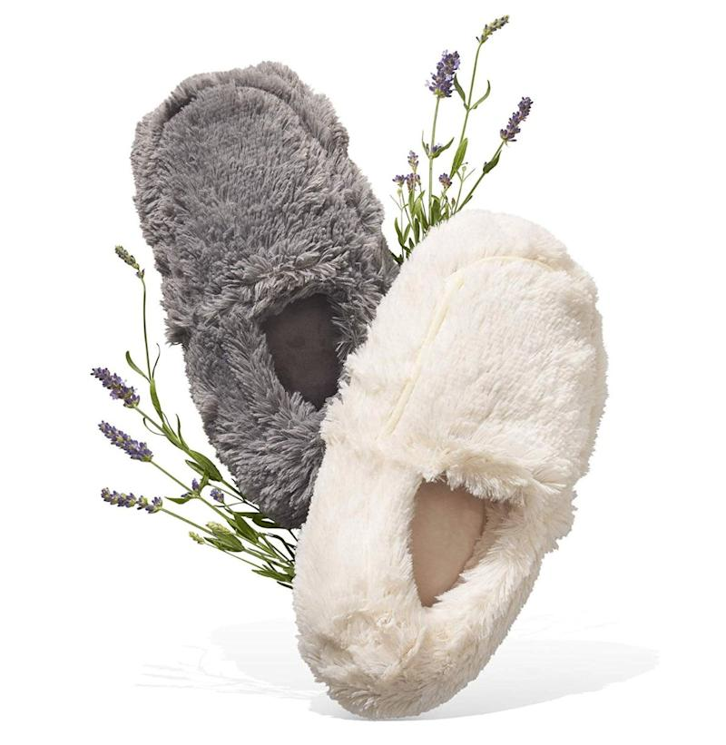 "They're <i>microwavable slippers.&nbsp;</i>What more do you need to know?&nbsp;Get it for $38.75 at <a href=""https://www.amazon.ca/Intelex-Cozy-Body-Slippers-Brown/dp/B004NSKWFI/ref=pd_sbs_121_img_0/141-0171418-5339146?_encoding=UTF8&amp;pd_rd_i=B004NSKWFI&amp;pd_rd_r=01e7da66-4591-4bfc-bddd-154a1b68df91&amp;pd_rd_w=XaLaq&amp;pd_rd_wg=QhPZR&amp;pf_rd_p=5cfcfe89-300f-47d2-b1ad-a4e27203a02a&amp;pf_rd_r=9CWFS1Z17TJ9N57HNHH4&amp;psc=1&amp;refRID=9CWFS1Z17TJ9N57HNHH4"" target=""_blank"" rel=""noopener noreferrer"">Amazon.ca</a>."