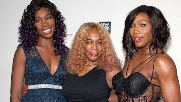 PHOTO:  Serena Williams (R) and sister Venus Williams pose with their mother Oracene Price at the Sports Illustrated Sportsperson of the Year Ceremony in New York, Dec. 15, 2015.   (FilmMagic via Getty Images, FILE)