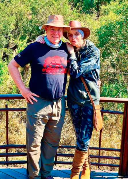 Princess Charlene and Prince Albert in South Africa