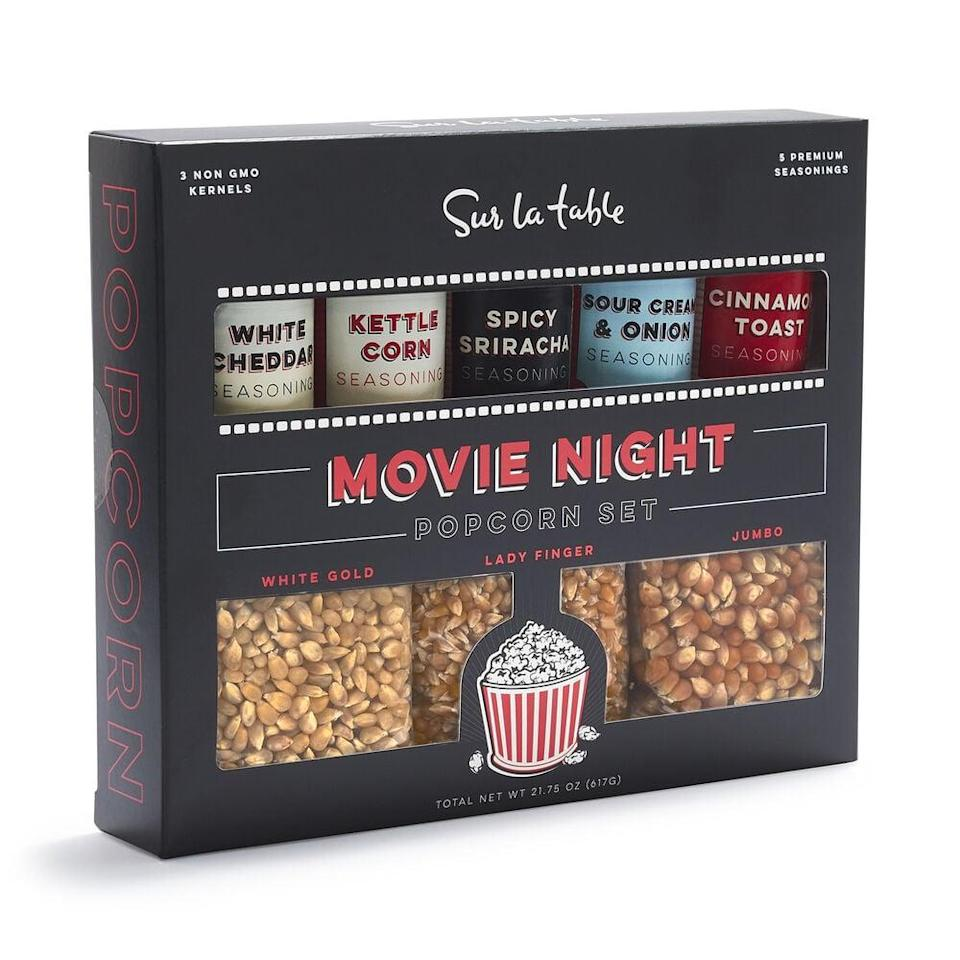 <p>This <span>Sur La Table Movie Night Popcorn Set</span> ($20) is such a great gift for cinephiles.</p>