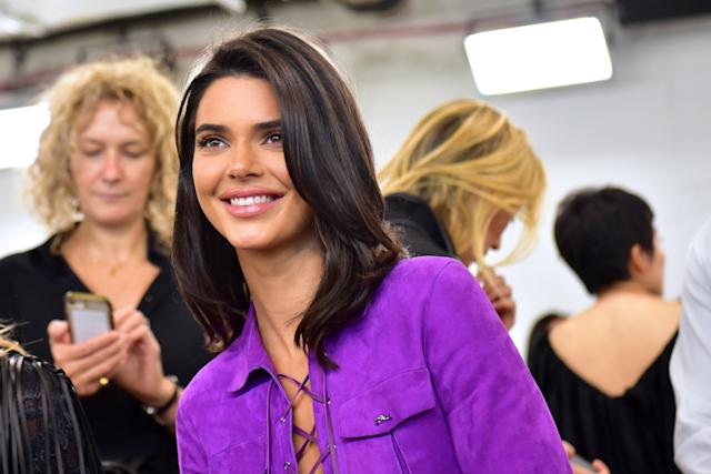 Kendall Jenner at the Longchamp spring/summer 2019 show. [Photo: Getty]
