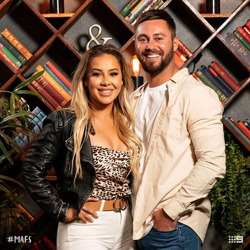 MAFS' Josh and Cathy attend a dinner party