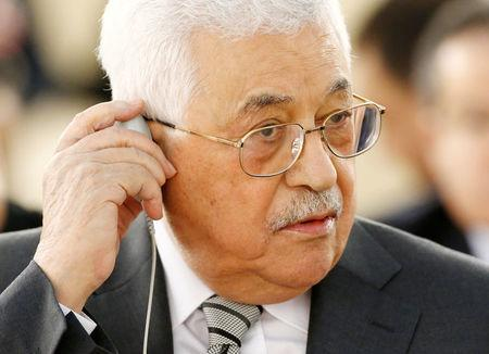 FILE PHOTO: Palestinian President Abbas attends the Human Rights Council in Geneva