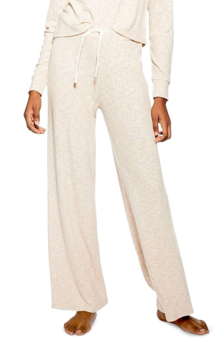 Topshop Ribbed Wide Leg Lounge Pants (Photo: Nordstrom)