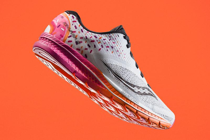 brand new 4784d a14fa Boston Runs on Dunkin , Thanks to Saucony