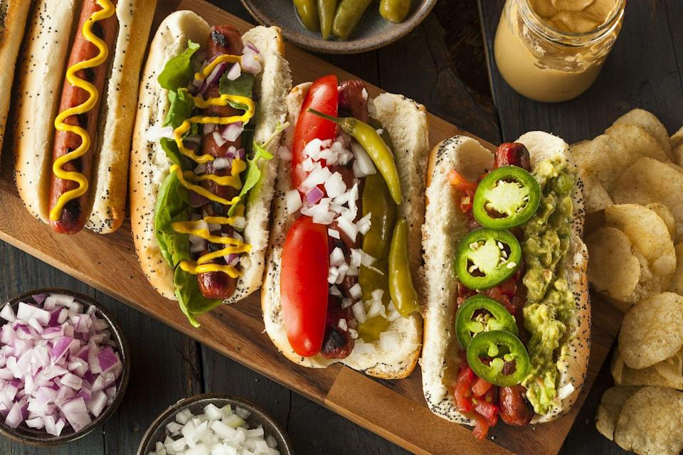 """<p>The <a href=""""https://www.hot-dog.org/media/consumption-stats"""" rel=""""nofollow noopener"""" target=""""_blank"""" data-ylk=""""slk:National Hot Dog and Sausage Council"""" class=""""link rapid-noclick-resp"""">National Hot Dog and Sausage Council</a> says Americans consume about 7 billion hot dogs from Memorial Day through Labor Day. That huge number makes sense — just think about all the grilling at your <a href=""""https://www.goodhousekeeping.com/food-recipes/g413/great-grilling-recipes/"""" rel=""""nofollow noopener"""" target=""""_blank"""" data-ylk=""""slk:summer parties"""" class=""""link rapid-noclick-resp"""">summer parties</a>!</p>"""