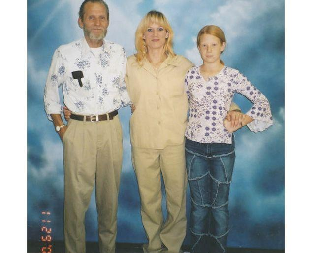 Barbara with her father and daughter, Alannah. Photo: Barbara Scrivner.
