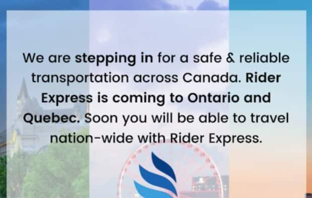 On Thursday just as Greyhound announced its departure, Rider Express, a company founded in Saskatchewan after the province shut down the STC bus service, posted this notice.