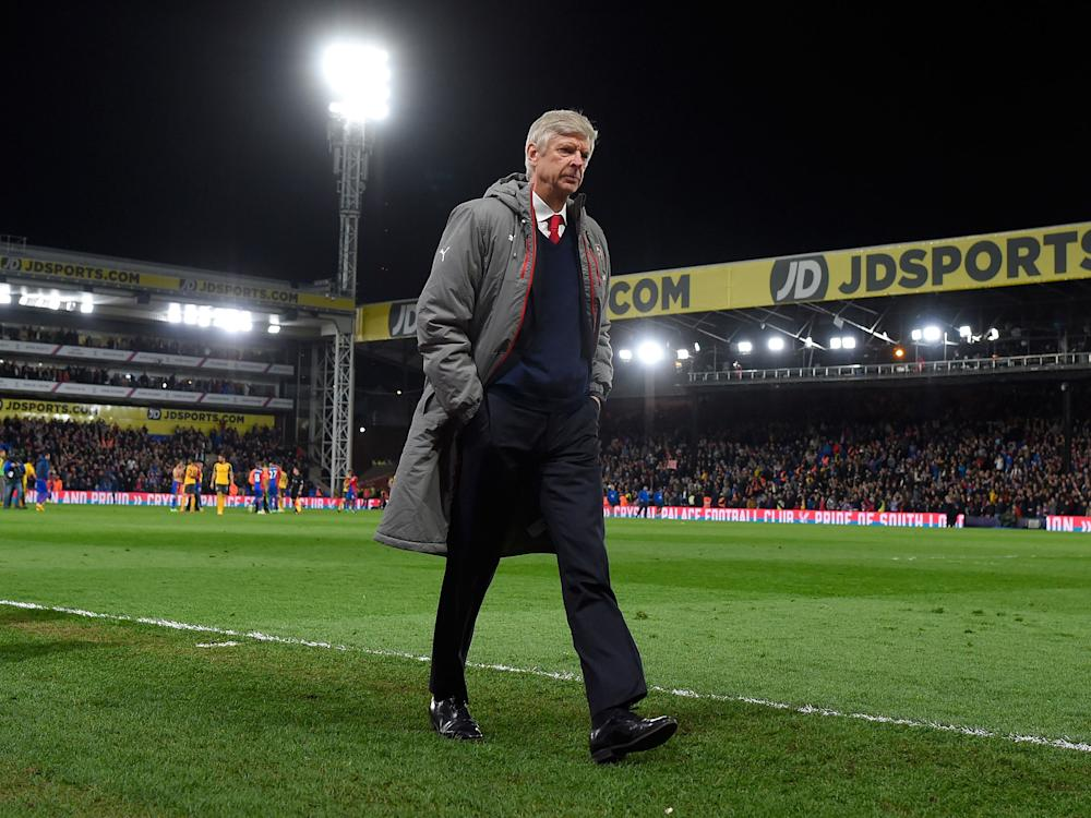 Wenger slumped to another defeat as Arsenal's disappointing run of results continue: Getty