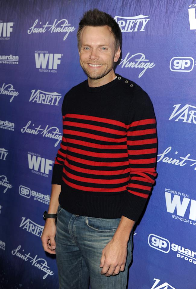 Actor Joel McHale arrives at Variety and Women in Film Pre-EMMY Event presented by Saint Vintage at Montage Beverly Hills on September 21, 2012 in Beverly Hills, California.  (Photo by Kevin Winter/WireImage)