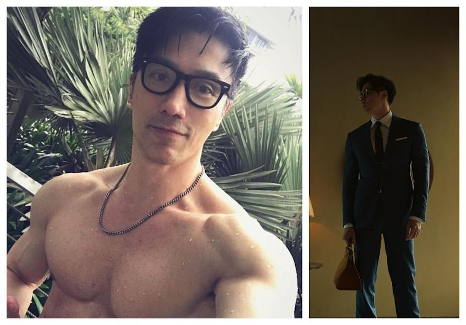 Singaporean model-photographer-actor Chuando Tan is in mm2's movie Precious Is The Night, due to be released in 2020. (Photos: Chuando Tan/Instagram/mm2 Entertainment)