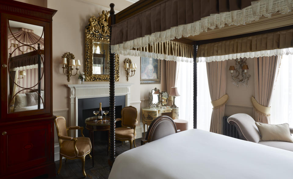 One of the impressive bedrooms at Henry's Townhouse. (Ray Main) 2020