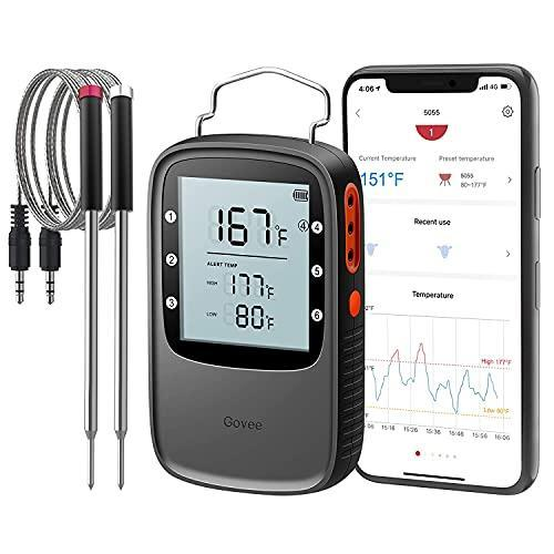 Govee Smart Bluetooth Meat Thermometer with 196ft Range